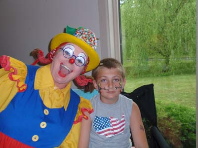 Crackers the Clown at Samuels Dental Arts, P.C.